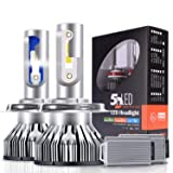 H4 LED Headlight Bulb - 10000Lm Super Bright LED Headlights H4(9003), 6500K White 66W Focused Adjustable High/Low Beam, Upgraded CSP LED Chips, 30000 Hours Life, 2 Years Warranty by Ravmix (Tamaño: H4/9003(Upgraded Version))