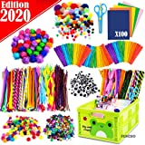 FunzBo Arts and Crafts Supplies Jar for Kids - Craft Art Supply Kit for Toddlers Age 4 5 6 7 8 9 - All in One D.I.Y. Crafting Collage Arts Set for Kids (Mega) (Tamaño: Mega)