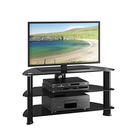 CorLiving TRL-401-T Laguna Stand for TV Up to 50-Inch, Satin Black