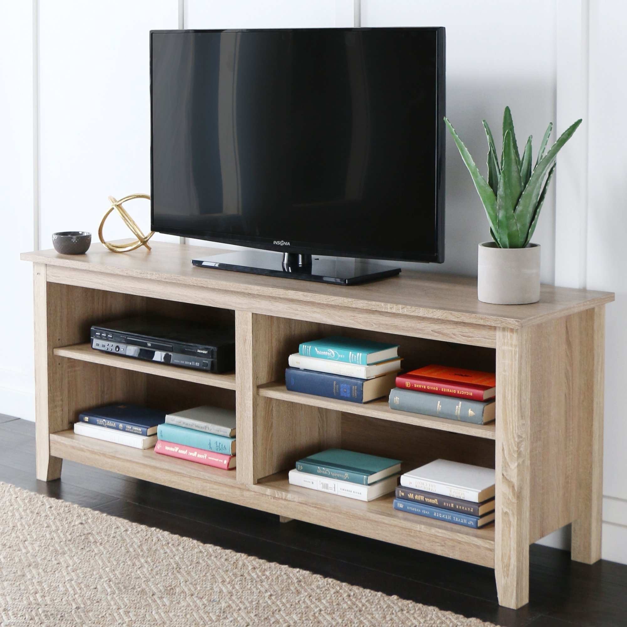 highly rated wood tv stands with storage