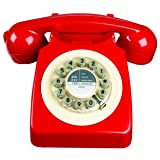 Wild Wood 746 Phone, Retro Design, Red (Color: Red, Tamaño: One Size)