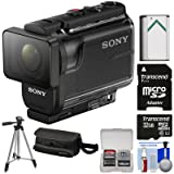 Sony Action Cam HDR-AS50 Wi-Fi HD Video Camera Camcorder with 32GB Card + Battery + Case + Tripod + Kit (Color: Black)
