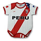 Arza Sports Peru Soccer Baby Outfit mameluco One Piece Jumpsuite Proud (Color: White, Tamaño: 9-18 Months)
