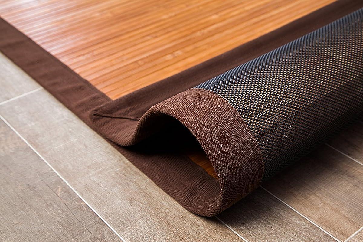 Anji Mountain 4-Foot-by-6-Foot Natural Fiber Rug, Contemporary Chocolate