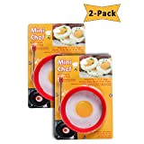Jacent Mini Chef Round Silicone Egg Ring, 2-Pack