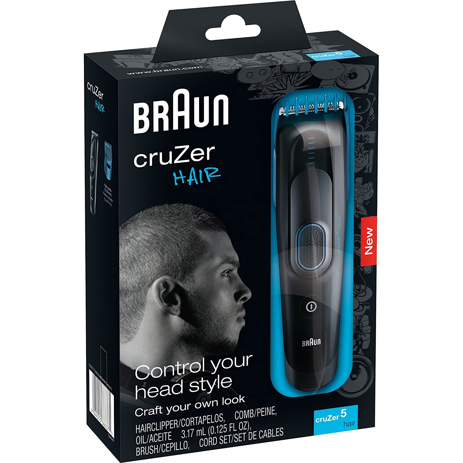 braun cruzer 5 hair trimmer 110 220 volts for worldwide use ebay. Black Bedroom Furniture Sets. Home Design Ideas