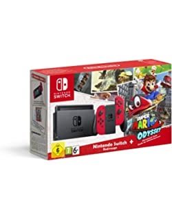Nintendo Switch Konsole Rot ab Oktober + Mario Odyssey 35x19,8x9,3cm, 1,5kg DE,Ital.