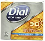 Dial 3D Odor Defense Soap Bar for Men, 3 Count (Pack of 3)