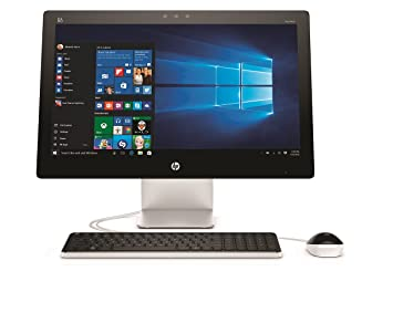 "HP Pavilion 23-Q204NF Ordinateur de bureau Tout-en-Un  23"" Blanc Full HD(Intel Core i3, 4 Go de RAM, 1 To, Windows 10)"