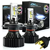 JDM ASTAR Newest Version G4 8000 Lumens Extremely Bright AEC Chips H4 9003 All-in-One LED Headlight Bulbs Conversion Kit, Xenon White