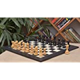 Chessbazaar Combo Of Indian Chetak Ii Customized Staunton Chess Set In Ebony / Box Wood & Black Anigre Maple Board