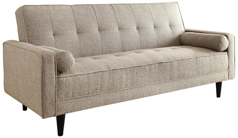 ACME 57071 Edana Adjustable Sofa with 2 Pillows - Sand Linen