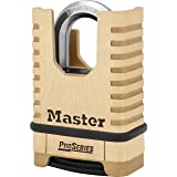 Master Lock Padlock, ProSeries Set Your Own Combination Lock, 2-1/4 in. Wide, Brass, 1177D (Color: Brass)
