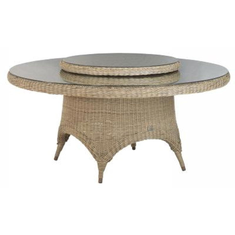 4Seasons Outdoor Victoria Tisch rund 170 cm mit Glasplatte Polyrattan pure jetzt bestellen
