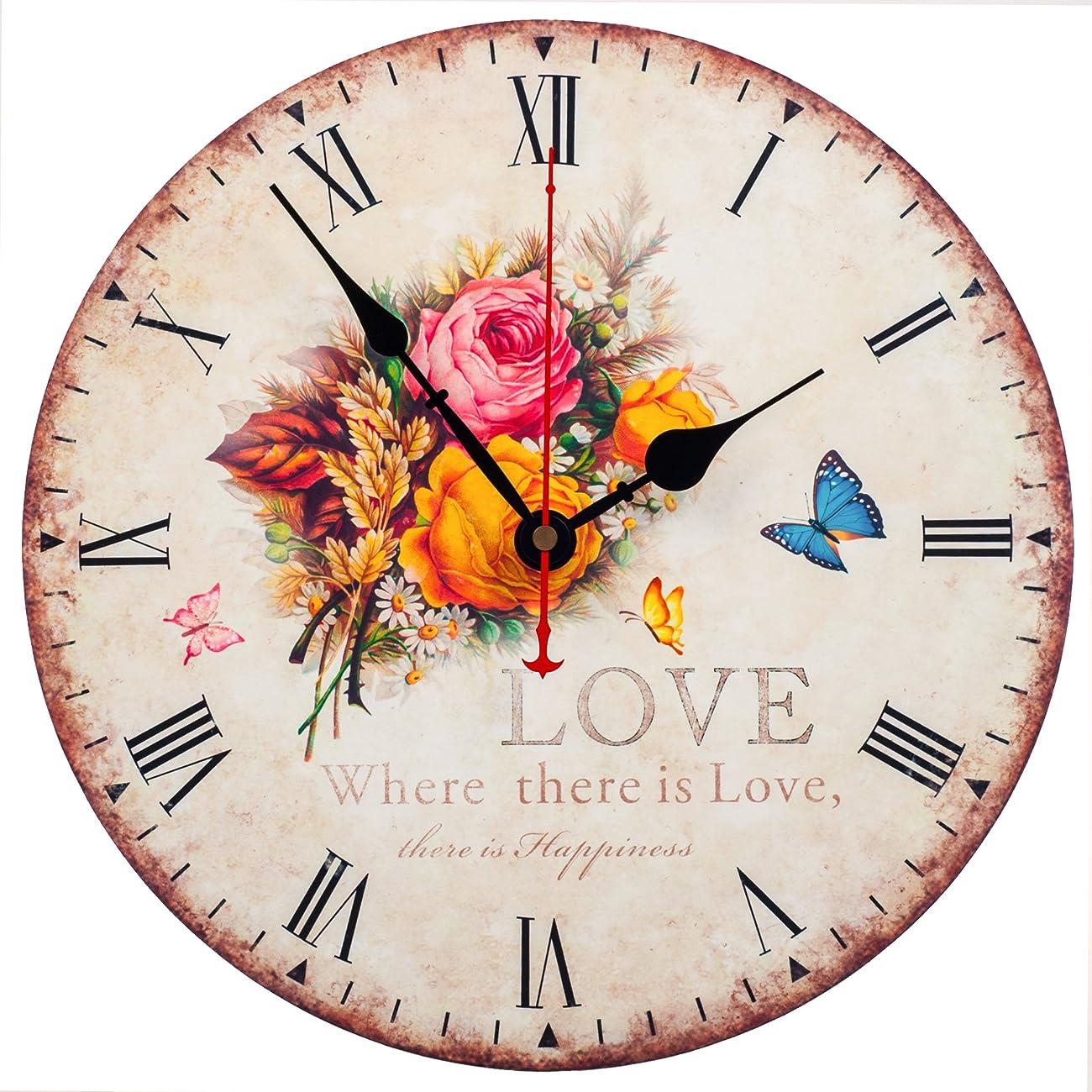 KI Store Silent Wall Clock Decorative, Premium Vintage Wall Clocks 12
