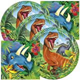 Dinosaur Themed Birthday Party Napkins and Plates (Serves 32) (Color: Serves 32)