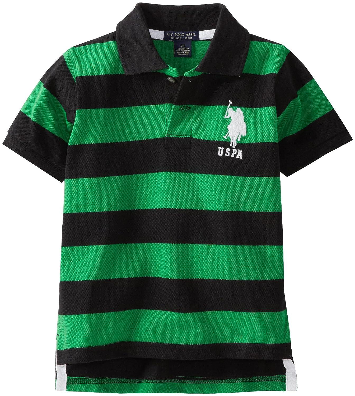 U.S. Polo Assn. Little Boys' Yarn Dyed Striped Polo: Polo Shirts
