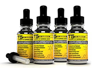 x4 Thermogenic T5 Fat Burners Serum : Scientifically Proven Fast Acting T5 Slimming Pills Alternative (4 Month Supply)