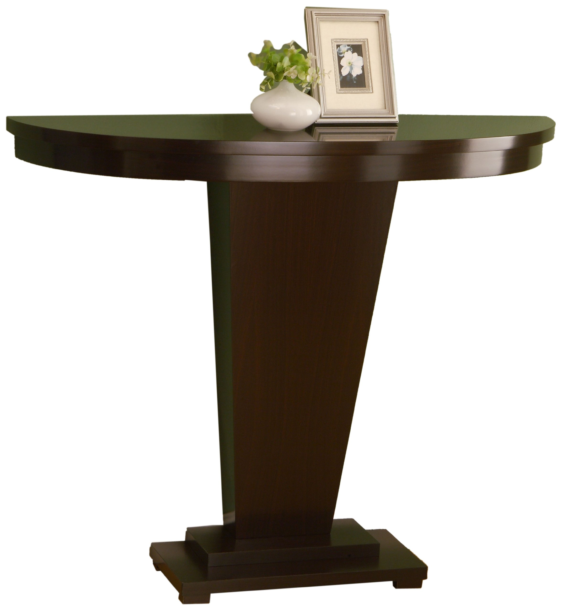 Enitial lab mainstreet console table cappuccino for 12 inch wide sofa table