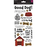 Sandy Lion Dog Phrases Clear Sticker 5.5x12 (Color: Multi, Tamaño: 5