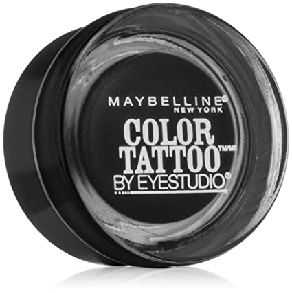 Maybelline New York Eye Studio Color Tattoo Leather 24 HR Cream Gel Eyeshadow, Dramatic Black, 0.14 Ounce