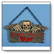 Spooky Spirits Bar Sign