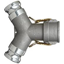 "Dixon 200YDAAAL Aluminum Cam and Groove Hose Fitting, Wye, 2"" Coupling"