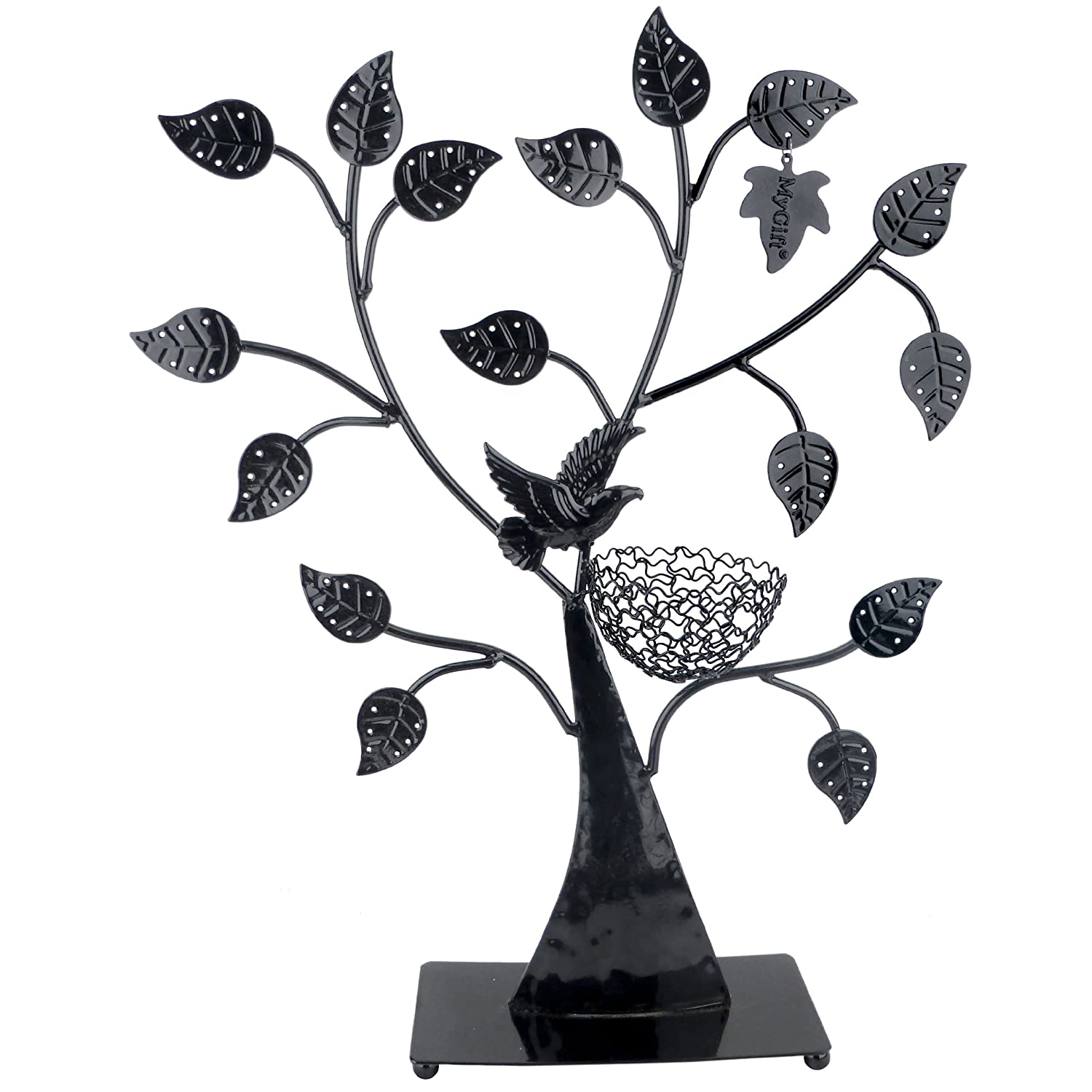 Jewelry Tree Bird Nest Table Top Dcor 48 pair Earrings Holder / Bracelets Necklace  Organizer Stand