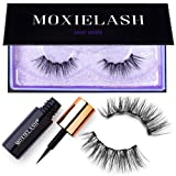 MoxieLash Sassy Kit - Mini Liquid Magnetic Eyeliner for Magnetic Eyelashes - No Glue & Mess Free - Fast & Easy Application - Set of Classy Lashes & Instruction Card Included (Sassy Lash Kit) (Color: Sassy Lash Kit)