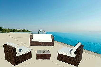 LuxuryGarden® salón sofá 2plazas de Rattan Modelo Andresa para exterior Muebles de jardín o de exterior