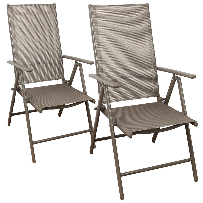 2 Stück Aluminium Hochlehner, hochwertige 4×4 Textilenbespannung, 8-fach verstellbar, klappbar, Champagner – Gartenstuhl Liegestuhl Positionsstuhl Klappstuhl Gartenmöbel Terrassenmöbel Balkonmöbel jetzt bestellen