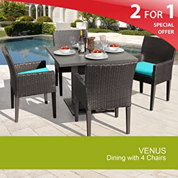 Venus Square Dining Table with 4 Chairs Aruba 2 Yr Fade Warranty