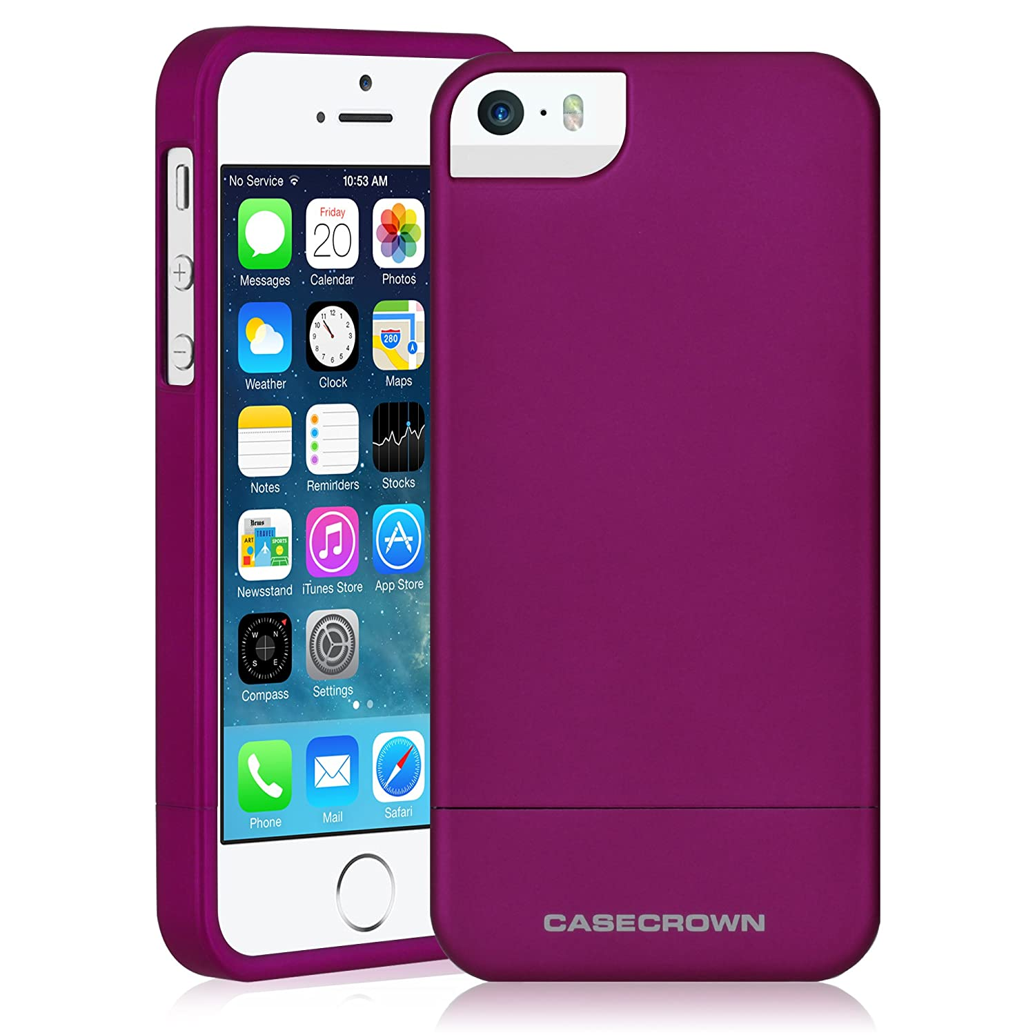 iPhone 5  5s Case, CaseCrown Lux Glider Case (Purple Amethyst)