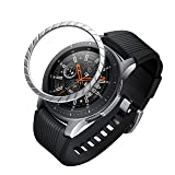 GELISHI BaiHui Compatible Galaxy Watch Bezel Ring 46mm / Galaxy Gear S3 Frontier & Classic Bezel Ring,Stainless Steel Bezel Ring Protection Cover for Galaxy Watch Accessory (01-Silver) (Color: 01-Silver)