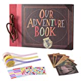 TEOYALL Our Adventure Book Scrapbook Photo Album DIY Family Anniversary Scrapbook Wonderful Gift for Birthday Wedding Thanksgiving Day Christmas (Adventure#1) (Color: Adventure#1)