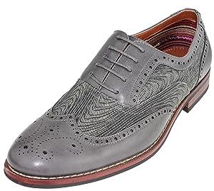 Ferro Aldo M-139001G Grey Mens Lace Up Wingtip Oxford Classic Shoes 8.5 D(M) US
