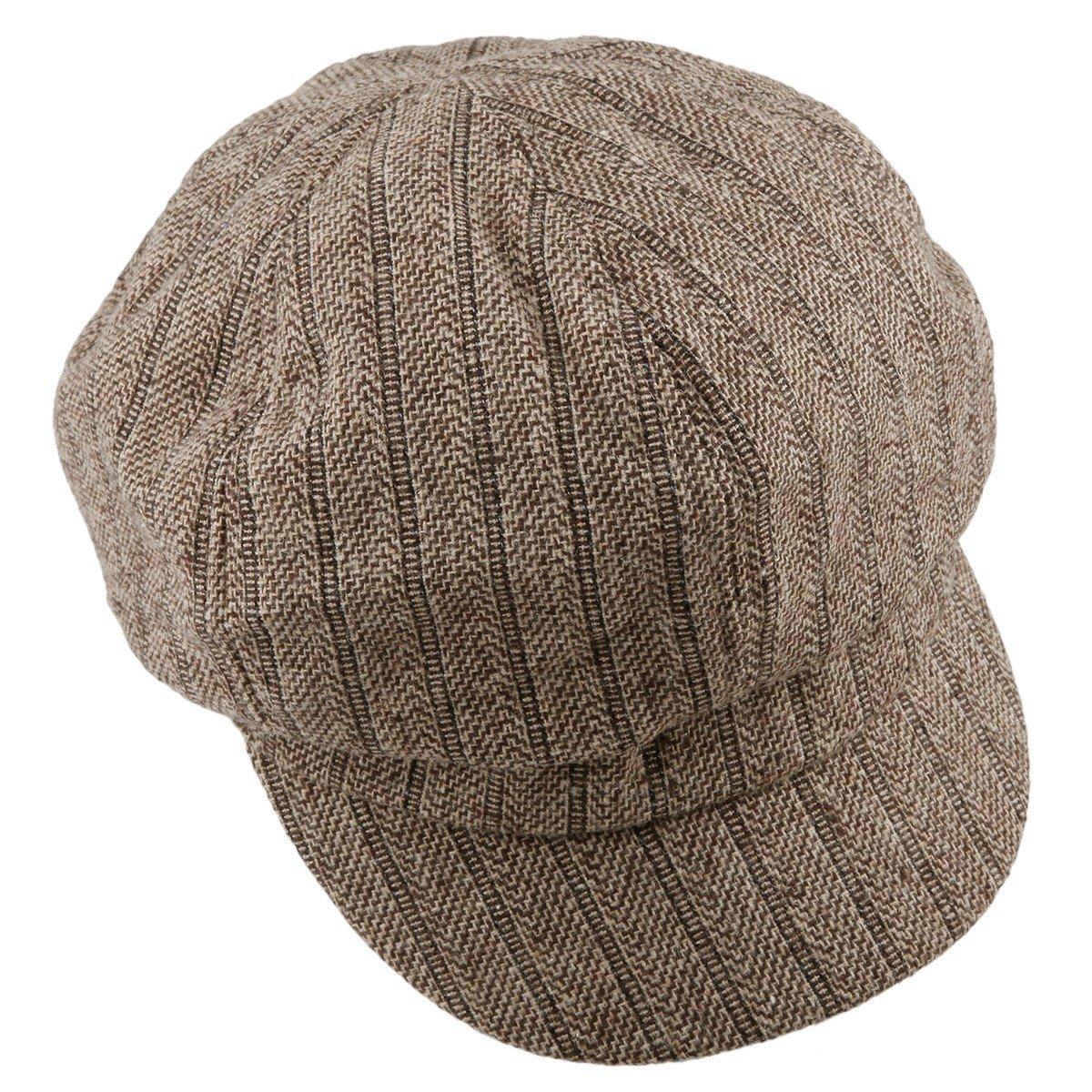 Moonsix Newsboys Hats,Unisex Winter Berets Hat Woolen Cotton Cabbie Cap 0