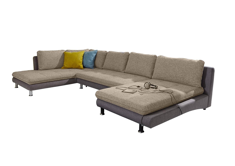 Wohnlandschaft Loungines/Ottomane-2 Bett-Longchair/379x79x222 cm/Bering creme-Inari 90 online bestellen