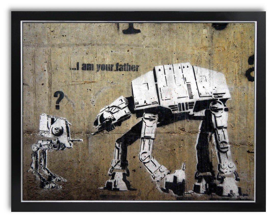 bild kunstdruck banksy i am your father star wars graffiti. Black Bedroom Furniture Sets. Home Design Ideas