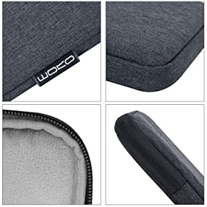 MoKo Sleeve Bag for 7-8 Inch Amazon Tablet, Polyester Pouch Case Fits All-New Fire HD 8, Fire 7 2017/2019, Fire 7/Fire HD 8 Kids Edition 2017, Kindle Oasis 2017, Kindle (8th Gen, 2016) - Space Gray (Color: Space Gray)