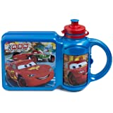 Disney Cars Sandwich Box and Drinks Bottle Combo (Color: Blue)