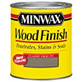 Minwax 227614444 Wood Finish Penetrating Interior Wood Stain, 1/2 pint, Classic Gray (Color: Classic Gray)