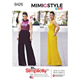 Simplicity Pattern 8426 AA Misses' & Plus Size Jumpsuit by Mimi G, Size 10-12-14-16-18 (Tamaño: 10