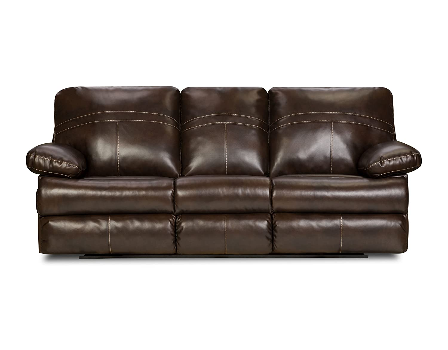 Simmons Upholstery 50981-53 Miracle Saddle Bonded Leather Double Motion Sofa
