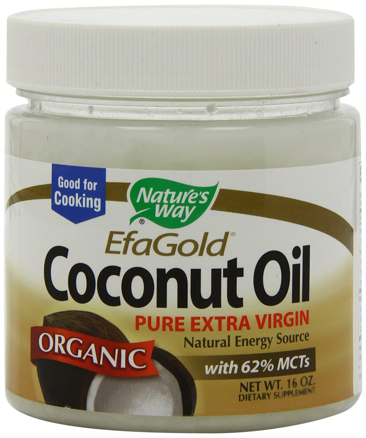 Amazon - Nature's Way Organic Coconut Oil - 16oz - $6.94
