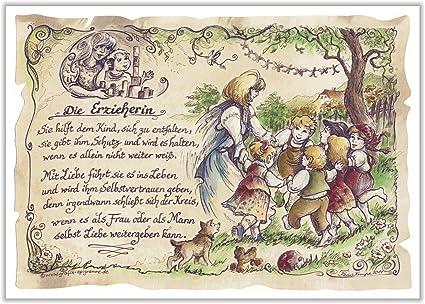 Geschenk erzieherin kinderg rtnerin kindergarten zeichnung for Geschenk fa r erzieherin
