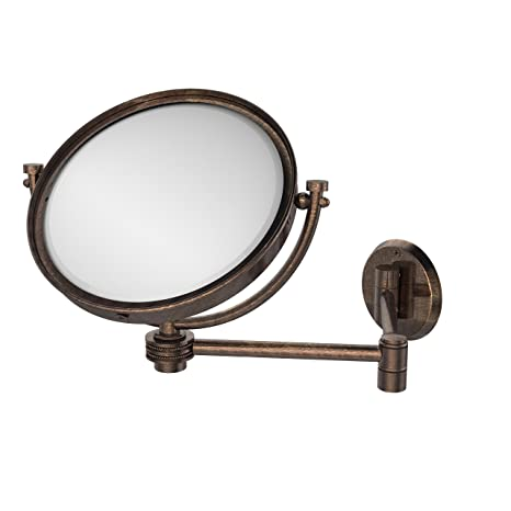 Allied Brass WM-6D/5X-VB 8-Inch Wall Mirror with 5x Magnification, Extends Up to 14-Inch, Venetian Bronze