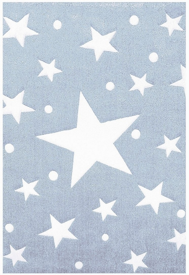 Kinderteppich Happy Rugs STARS blau/weiß 120×180 cm jetzt kaufen