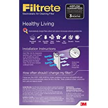 Filtrete Healthy Living Filter, 15-Inch by 20-Inch by 1-Inch, 6-Pack