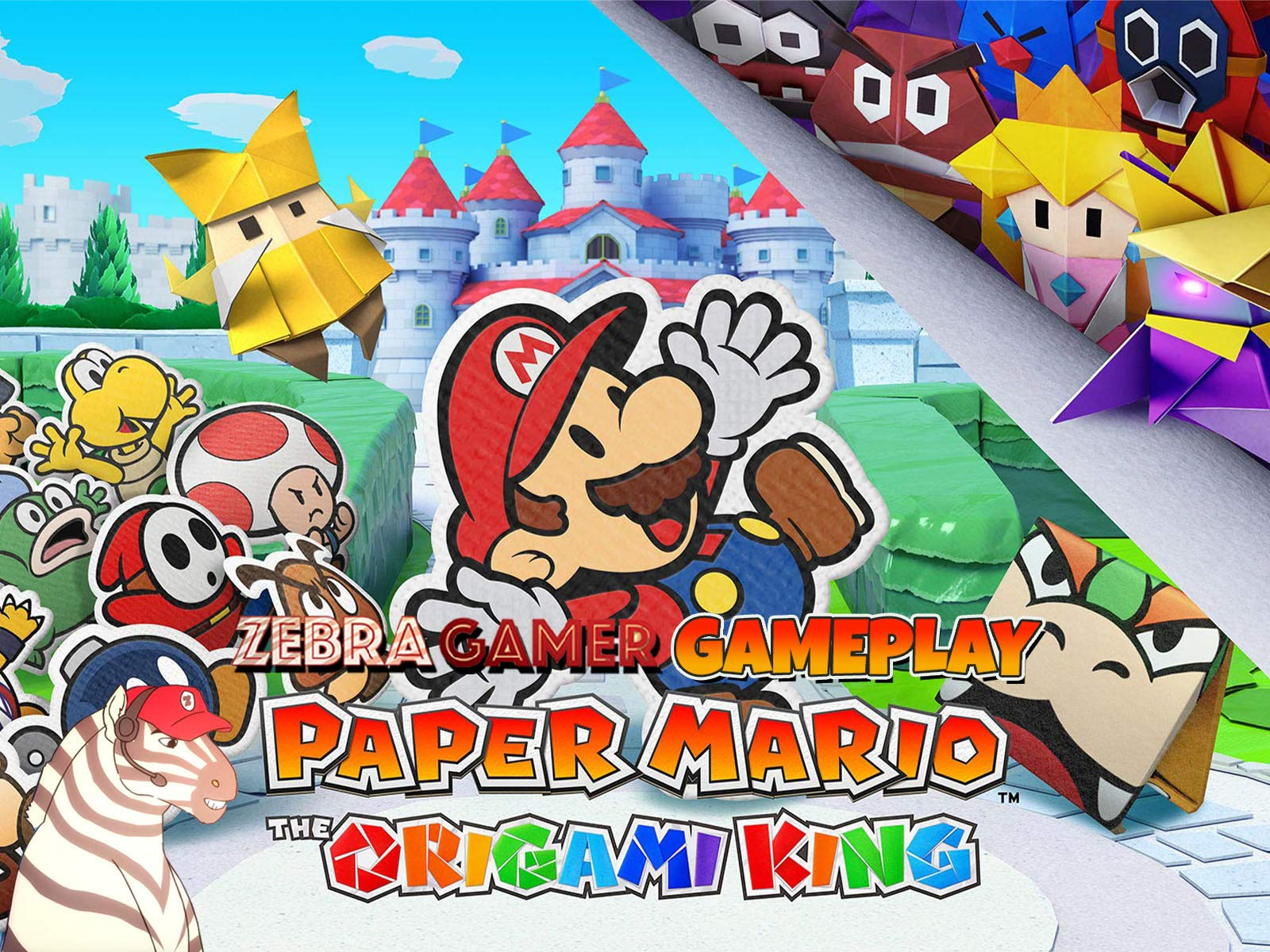 Clip: Paper Mario The Origami King Gameplay - Zebra Gamer - Season 1